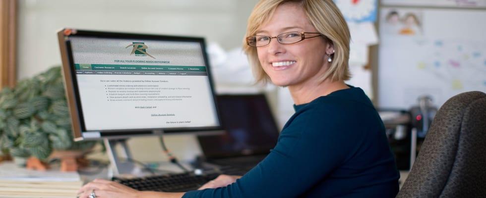 Redi Carpet online acount services header image
